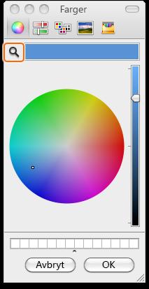 Dialogboksen for farger