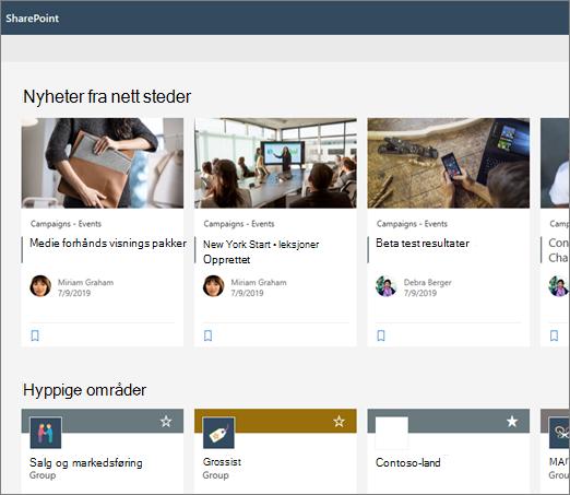 Nyheter på Starts IDen for SharePoint