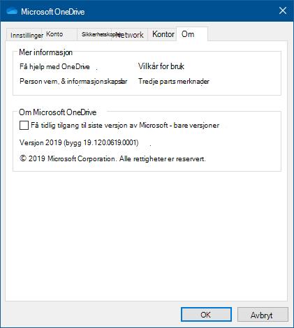 OneDrive Om brukergrensesnitt