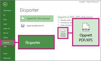 Bilde av Opprett PDF/XPS-knapp