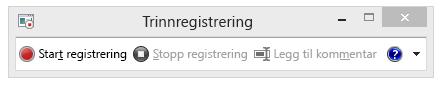 Et skjermbilde av trinnregistreringen eller PSR.exe.