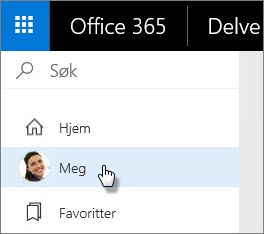 Velg Meg for å gå til profilsiden din