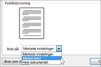 Alternativer for papirretning