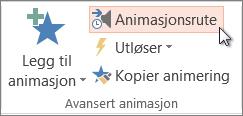Åpne Animasjon-ruten