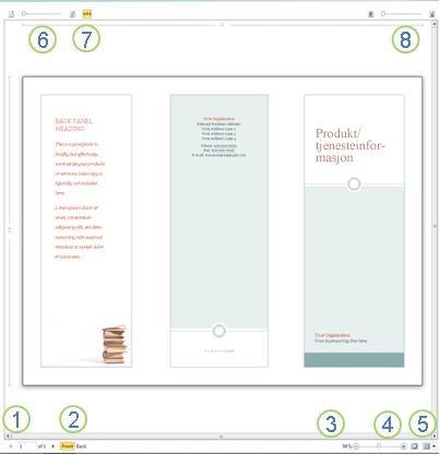 Forhåndsvisning i Publisher 2010
