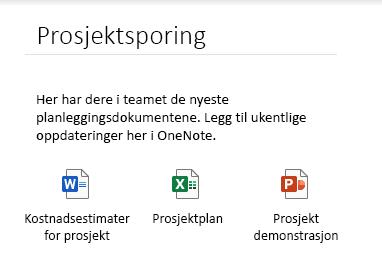 Innebygde filer på en side i OneNote for Windows 10