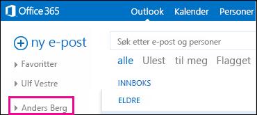 Delt mappe vises i Outlook Web App