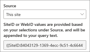 SiteID-og WebID-verdier for egen definerte spørringer