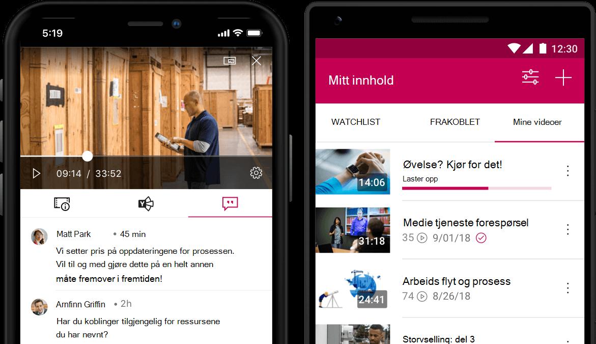 Stream-mobilappen