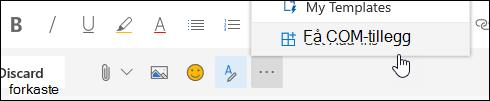 Et skjerm bilde av Hent tillegg-knappen