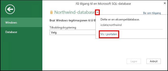 Vise datakildeinformasjon i portalen