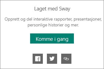 Laget med Sway-varemerking