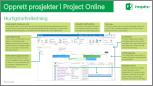 Opprette prosjekter i hurtigstartveiledning for Project Online