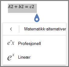 Viser matematisk formel formater