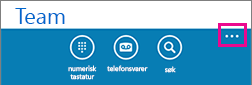 Trykk de tre prikkene nederst på skjermen for å vise Flere innstillinger-menyen