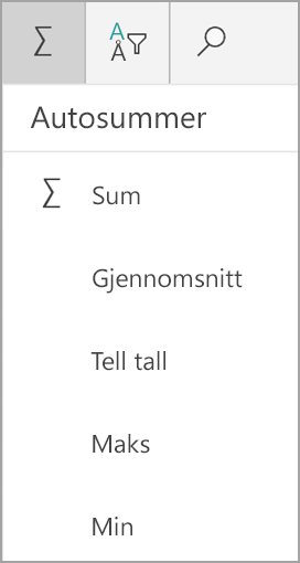 Windows Tablet Excel-sum