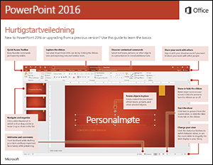 Hurtigstartveiledning for PowerPoint 2016 (Windows)