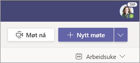 Velg + Nytt møte.