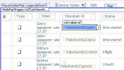 SharePoint Designer-listevisinger