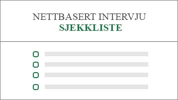 Begrepsmessig bilde av en sjekkliste for jobbsøknad