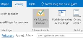 Funksjonen Innboks med fokus for Outlook