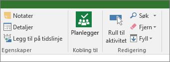 Bilde av Planner-knappen på oppgavebåndet