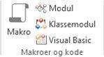Bilde av båndet med gruppen Access-makroer og -kode
