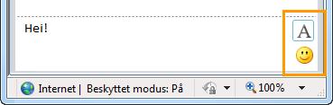 Formateringsknapper for direktemeldinger