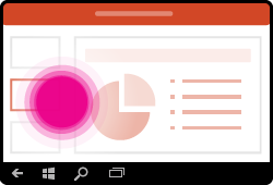 Bevegelse for å endre lysbilder i PowerPoint for Windows Mobile
