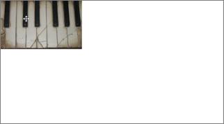 Dra bildet til øvre venstre hjørne av lysbildet.