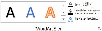 Gruppen WordArt-stiler