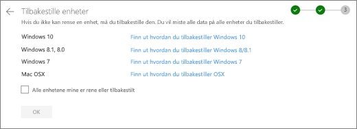 Skjerm bilde av skjerm bildet rest enheter på OneDrive-nettstedet