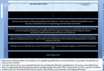 Lysbildemal med tekst i bildetekstplassholdere