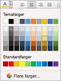 Velge en skriftfarge