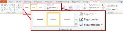 Kategorien format under Tegneverktøy i PowerPoint 2010.