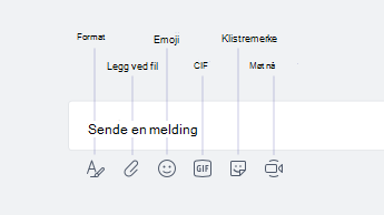 Emoji, GIF, klistremerker og andre alternativer