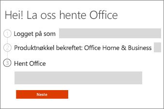 Gå gjennom ditt Office-produkt.