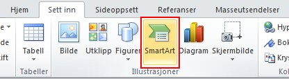 On the Insert tab, in the Illustrations group, click SmartArt.