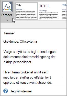 Utvidet skjerm tips med hjelp-alternativet