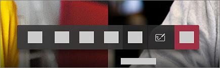 Knappen for å starte tavle i møte kontrollene på en Surface hub