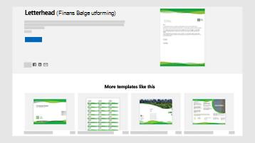 Maler for forretnings dokumenter på templates.office.com