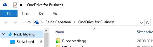 Gammel skrivebordsklient for OneDrive for Business