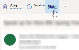 Alternativet Outlook.com Message Block
