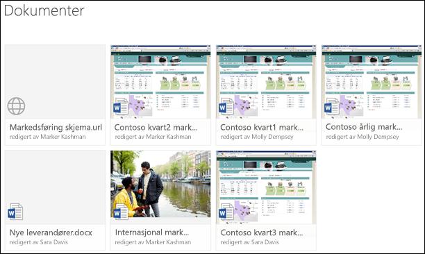 Legge til en kobling til et dokumentbibliotek i Office 365