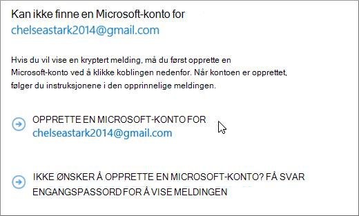 Opprett en Microsoft-konto