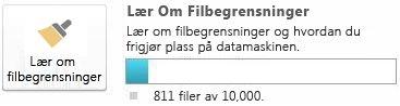 Dokumentmåler i SharePoint Workspace ved bruk av færre enn 7500 dokumenter