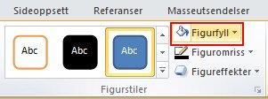 Velg Format > Figurstiler > Figurfyll for å vise fargepaletten.