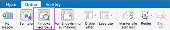 Innboks med fokus hjelper deg å holde orden i e-posten din.