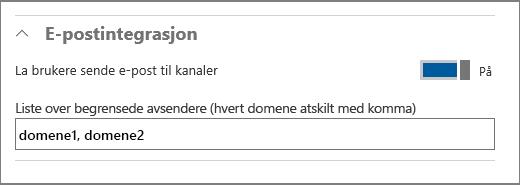 Integrering av e-post