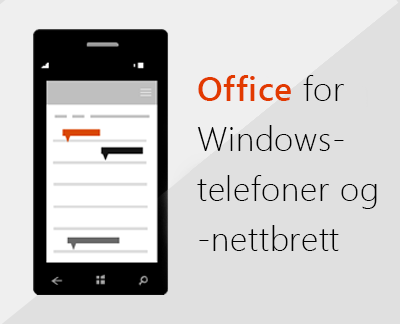 Office-mobilappene på Windows-telefoner
